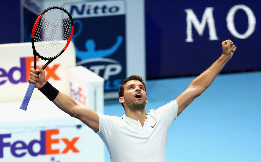 Grigor Dimitrov Celebrating Victory