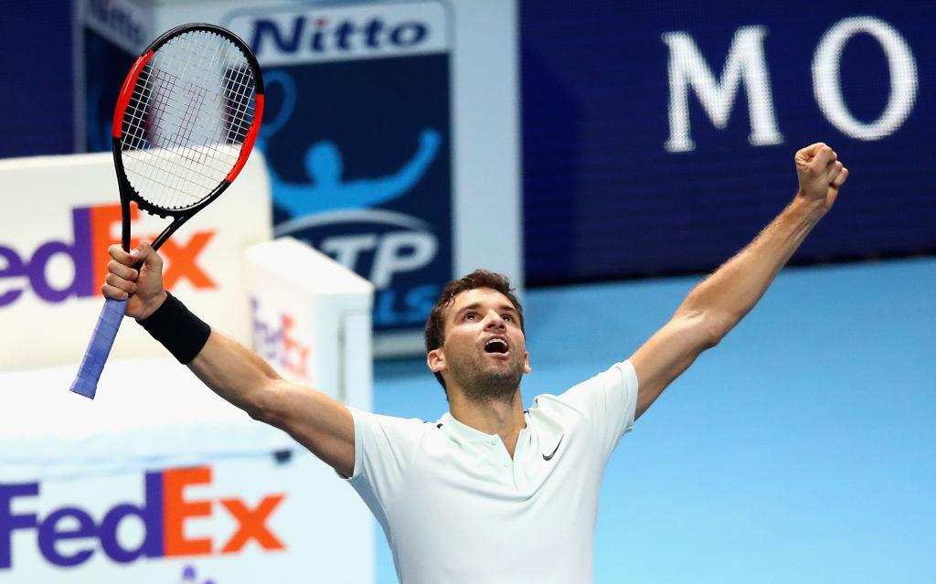 Grigor Dimitrov Celebrating Victory